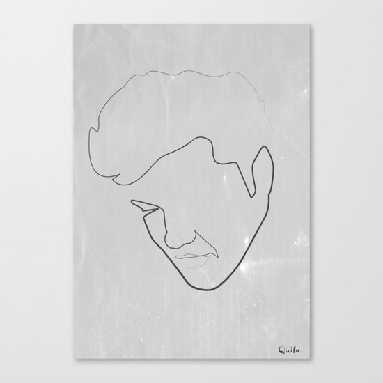 One line Elvis Canvas Print