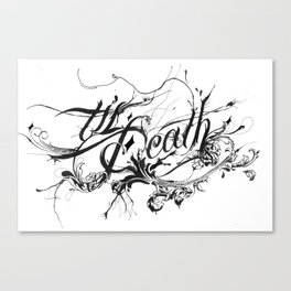 Minga X Til Death Canvas Print