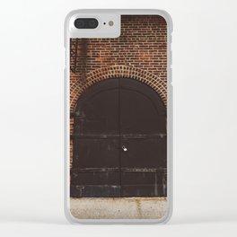 Brooklyn Door III Clear iPhone Case