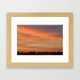 Tangerine Sunset Framed Art Print