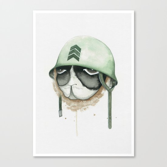 Soldier on Brave Spirit Canvas Print