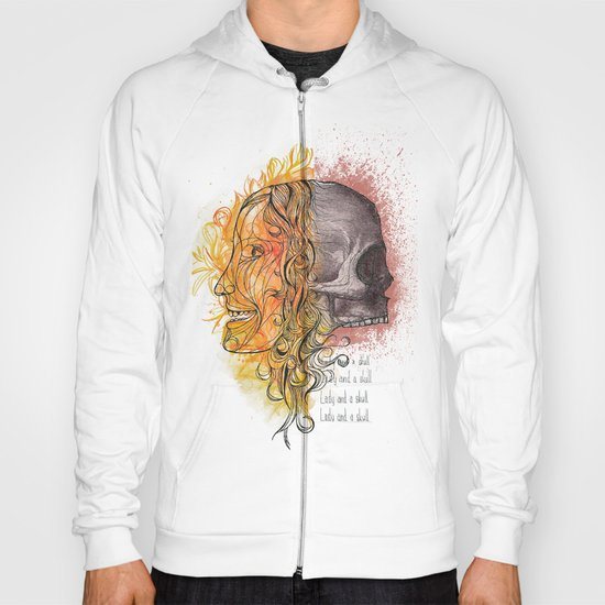 Lady and a skull Hoody
