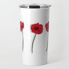 Poppy Art Print Travel Mug