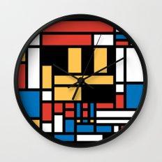 Super Mondrian Wall Clock