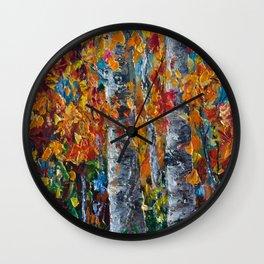 Aspen Trees - 1 Wall Clock