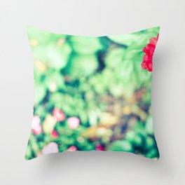 Ruby Petals Throw Pillow