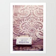 Carrer de la Boqueria Color Art Print