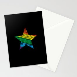 LGBT Rainbow Star Rainbow Pride Love Retro Stationery Cards