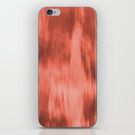 Pantone Living Coral Fusion Abstract Watercolor Blend iPhone Skin