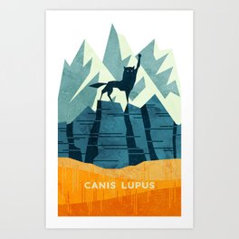 Canis Lupus: What a beautiful creature. I have a Phobia of Wolves. Art Print