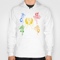 sailor moon Hoodies featuring Sailor Scouts / Sailor Moon by Sara Eshak