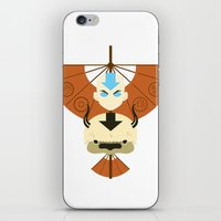 airbender iPhone & iPod Skins featuring Yip Yip by Ashley Hay