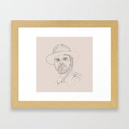 A Very Handsome Sheriff Framed Art Print