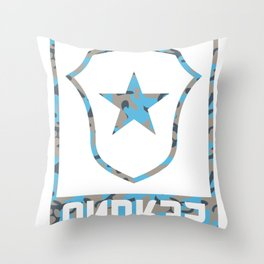 ANDR35 Camo Logo Throw Pillow