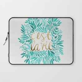 That's Life – Turquoise & Gold Laptop Sleeve