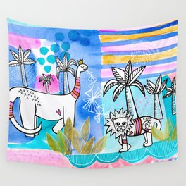 Unlikely Friends Wall Tapestry