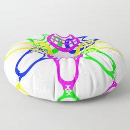 Lacrosse Neon Heads Floor Pillow