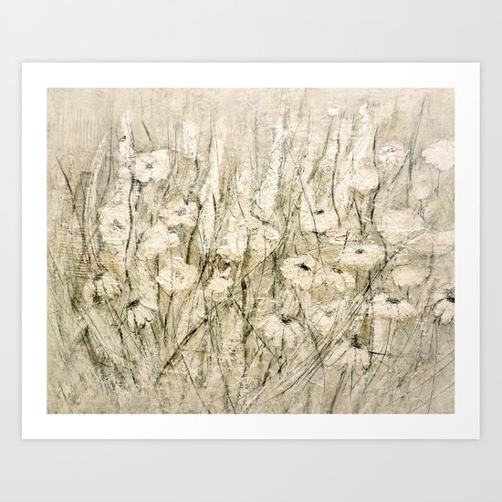 white Flower Art Print