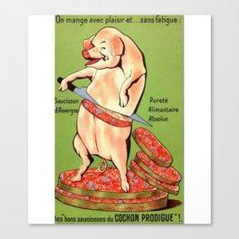 excusez mon porc Canvas Print