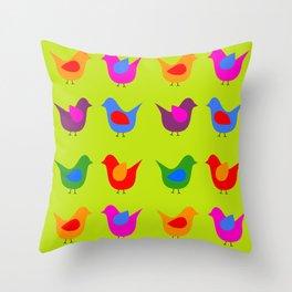 Scandinavian Birds Throw Pillow