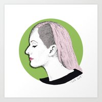 ellie goulding Art Prints featuring Ellie by Iiris Ella
