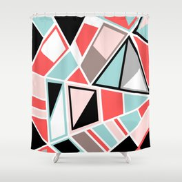 Abstract #534 Facets Shower Curtain