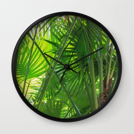 Sunny Tropical Palms 2 Wall Clock