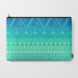 Blue Mayan Carry-All Pouch