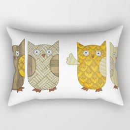 4 Gold Owls Rectangular Pillow