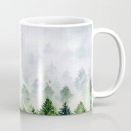 Mint green Misty Landscape | Watercolor Handmade Art Coffee Mug