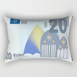 20 Euro Note Bill Rectangular Pillow