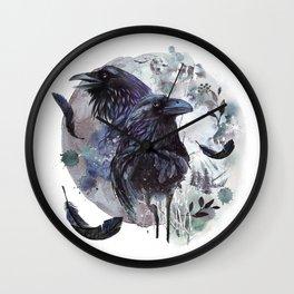 Full Moon Fever Dreams Of Velvet Ravens Wall Clock