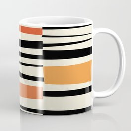 MCC Oddities II - Mid Century Modern Geometric Abstract - Blue Orange Yellow Red Coffee Mug