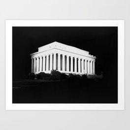 Lincoln Memorial at Night - Washington DC - 1922 Art Print