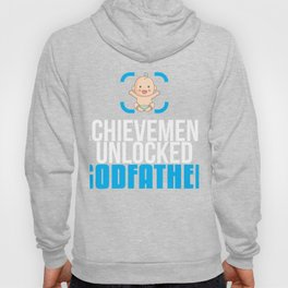 New Godfather Gift Achievement Unlocked Godfather Present for First Time Godfather Hoody