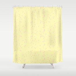Light Violet Yellow Shambolic Bubbles Shower Curtain