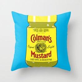 Proper Mustard Throw Pillow