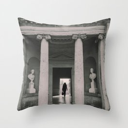Black and white Mansion Folly Throw Pillow