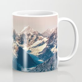 Scenic Alaskan nature landscape wilderness at sunset. Melting glacier caps. Coffee Mug