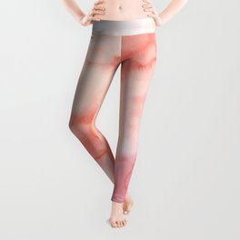 Warm pink waters Leggings