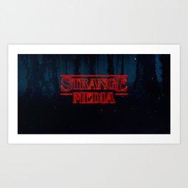 Strange Media - Title Card Art Print