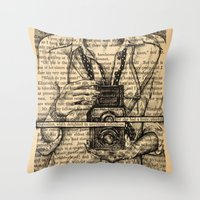 pride and prejudice Throw Pillows featuring Pride & Prejudice, Page 7 by Rebecca Loomis