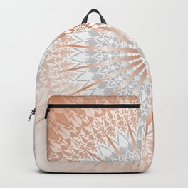 Rose Gold Gray Mild Mandala Backpack