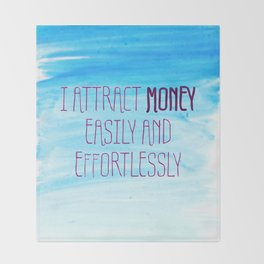 I Attract Money Easily And Effortlessly Throw Blanket