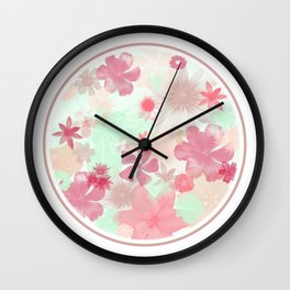 The Earth Laughs In Flowers. Wall Clock
