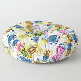 Colorful Euros Pattern - Money - LOA - Abundance - Cash Floor Pillow