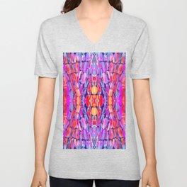 Ultraviolet Purple Sugarcane Pattern Unisex V-Neck