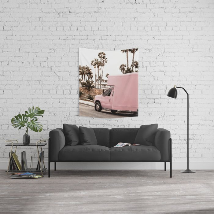 Blush Tropical Venice Wall Tapestry