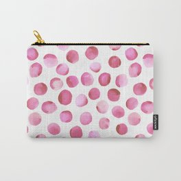 Watercolor Dots // Persian Pink Carry-All Pouch
