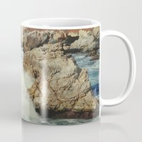 big sur Mugs featuring Big Sur - Embrace me by Jenndalyn